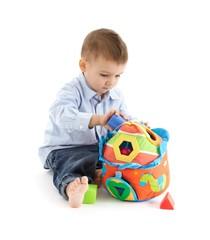 Baby enjoying developmental toy