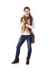 Schoolgirl in autumn style