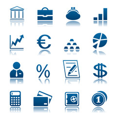 Banks and finance icon set