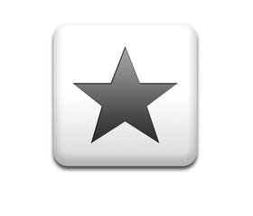 Boton cuadrado blanco simbolo estrella