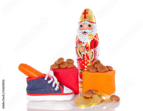 gingernuts and gifts and a shoe with carrot for the Dutch Sinter