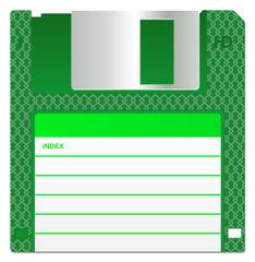 Green Floppy Disk