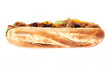 Gyros baguette over white