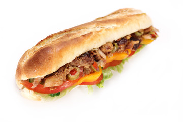 Tasty gyros baguette