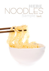 noodle with pinch chopsticks