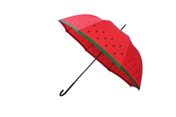 Red umbrella.