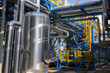Leinwanddruck Bild - Industrial steam boiler in a power plant
