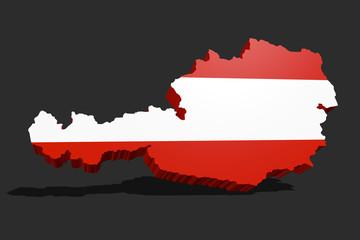 Autria 3D flag
