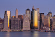 Lower Manhattan Financial District and the East River