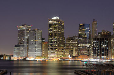 Lower Manhattan Skyline and the East River
