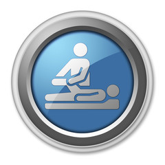 "3D Style Button ""Physical Therapy"""