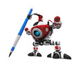 Designer Robot with Mechanical Pencil with Pencil Extreme Perspe