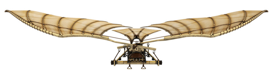 3d Da Vinci Ornithopter Flying Machine