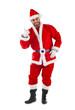 Santa Claus shows a message!