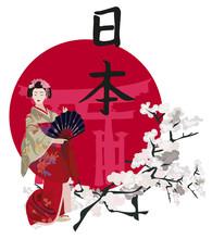 Geisha et Kanji