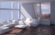 Interno con divano e finestra