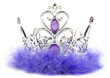 Purple princess crown isolated on white background