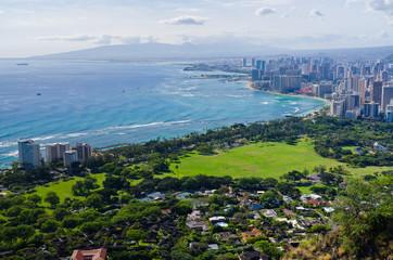 Honolulu seen from Diamond Head, Hawaii