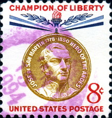 Jose de San Martin. Hero of the Andes. US Postage.
