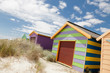 Colourful beach house