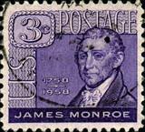 James Monroe. 1758. 1831. US Postage.