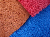 Colourfull plastic matting