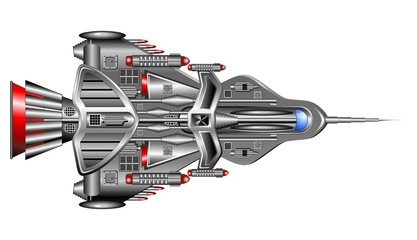 Astronave-Nave Spaziale-Spaceship-Spacecraft-Vector