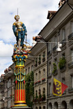 Blindfolded Lady Justice Sculpture in Bern, Switzerland
