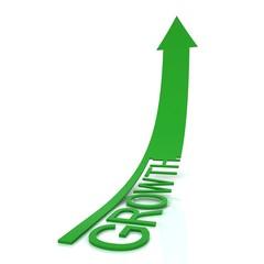 Beautiful green arrow growth.
