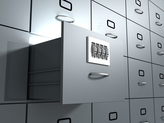 Secure Database office cabinet