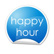 Pegatina happy hour con reborde