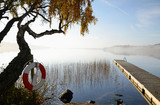 October's morning on Swedish lake-