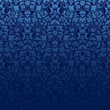 Seamless Damask Pattern Blue