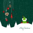 Sitting Christmas Elf & Hanging Symbols