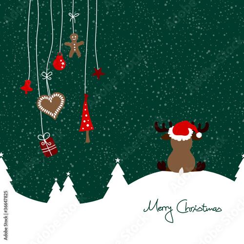 Sitting Reindeer & Hanging Symbols