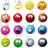Fototapety color balls with many expressions