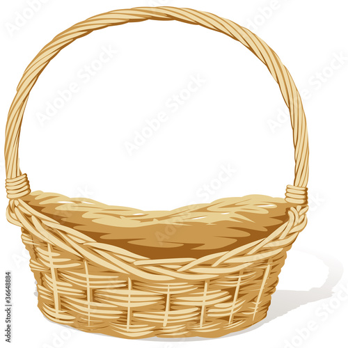 empty vector basket - 36648884