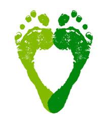 エコロジーをイメージした足跡