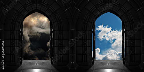 canvas print picture Doorways to heaven or hell