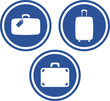 Traveling bags - Vector icons
