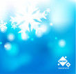 vector blue winter abstract backround