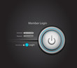 Vector login page with power button