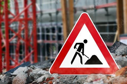 Baustellenschild - 36653623