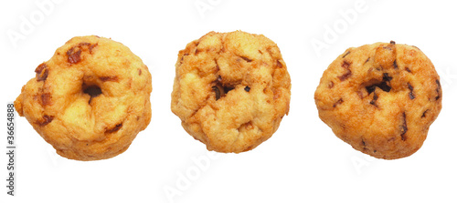 close up of indian vadai isolated on white