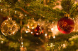 Decoration in christmas tree - shallow dof