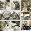 Collage of Christmas place settings