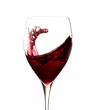 Glass of wine with movement