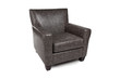 Arm chair dark grey with pattern