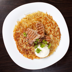 potato pancake with meat