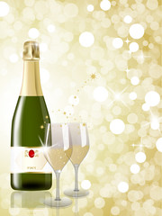 Champagne, New Year Celebration
